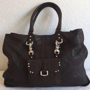 DKNY brown leather tote